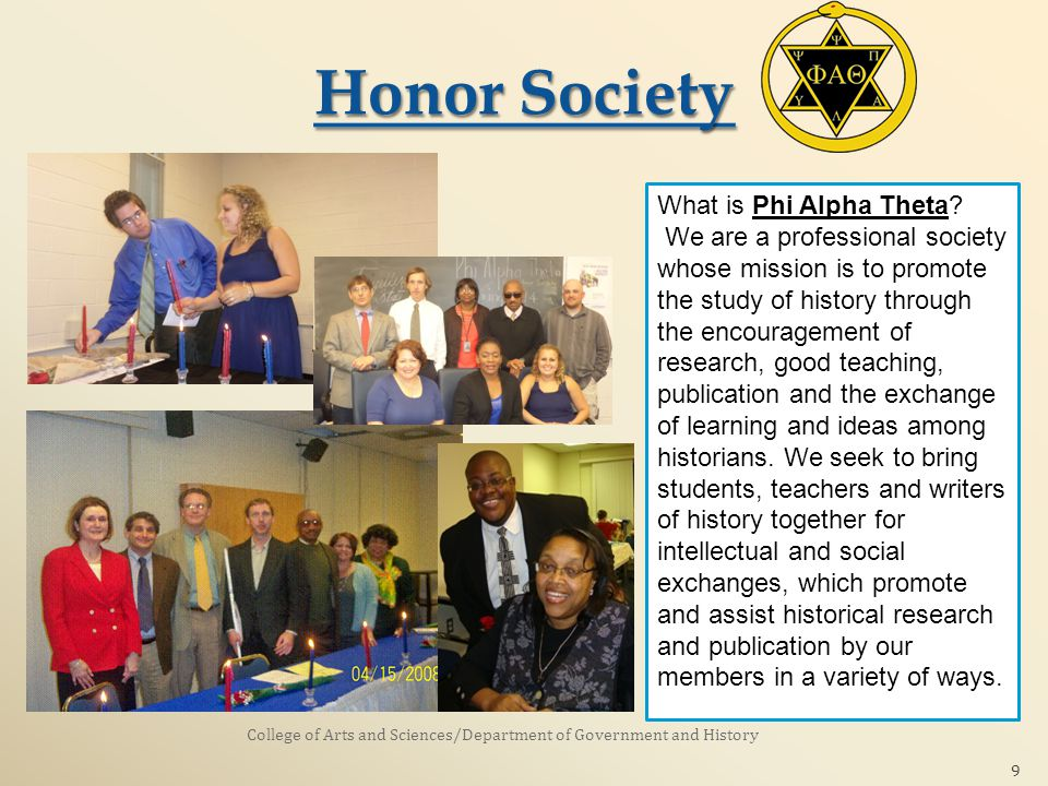 9 What is Phi Alpha Theta.