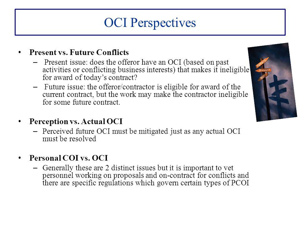 OCI Perspectives Present vs.
