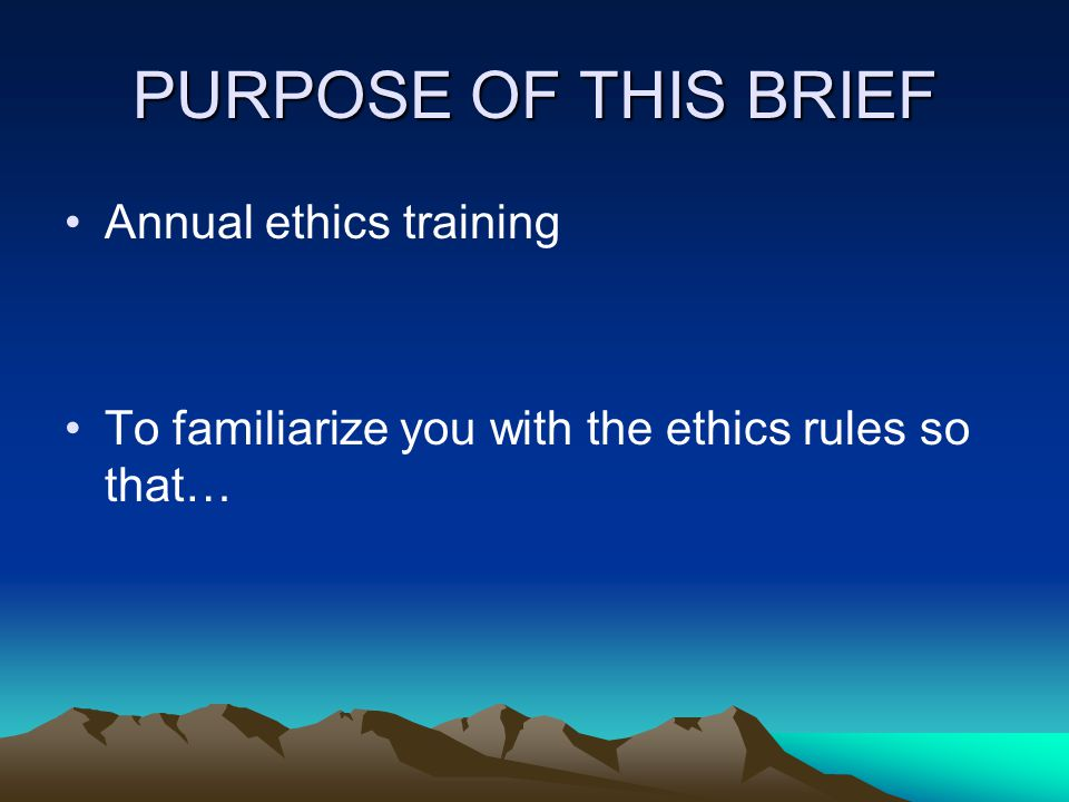 Ethics Rules that Apply to SGEs Bribery, Graft, and Conflicts of Interest Statutes (18 U.S.C.