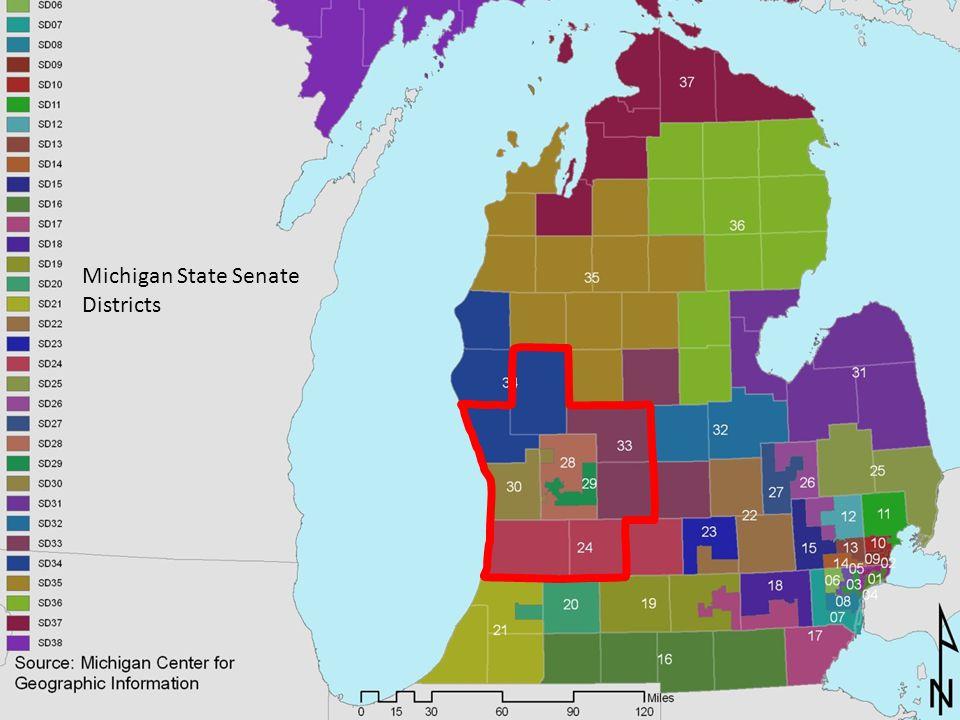 Michigan State Senate Districts