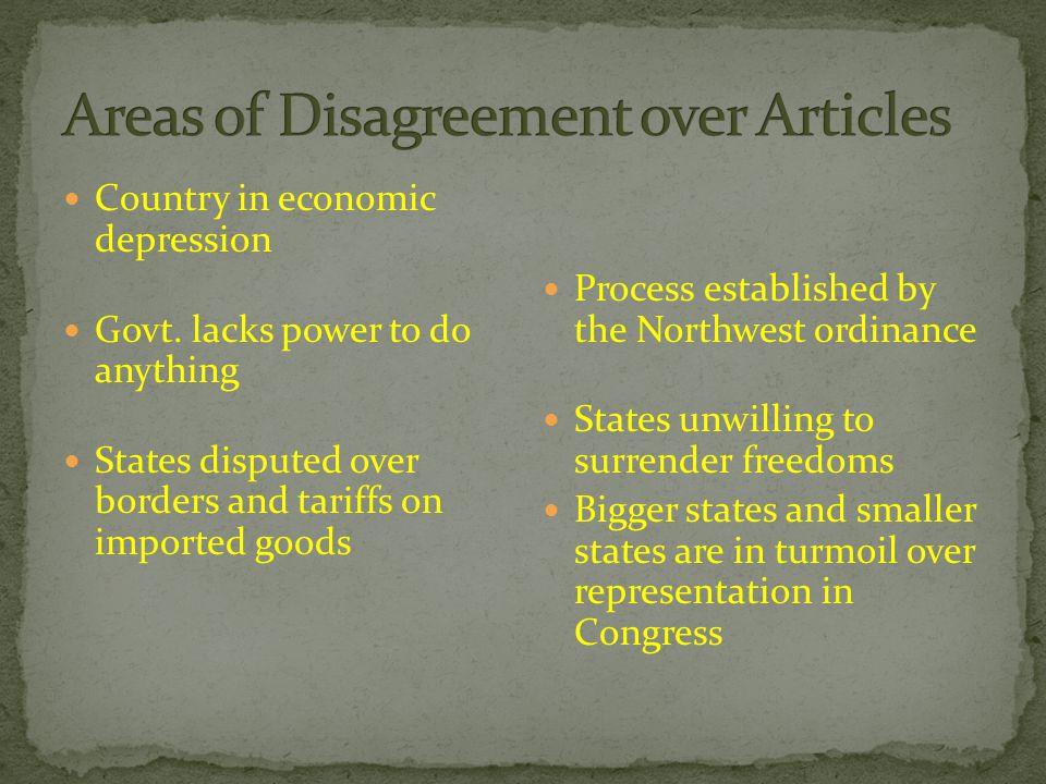 Country in economic depression Govt.