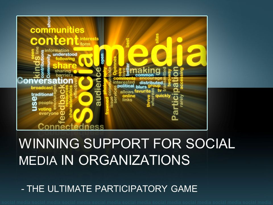 WINNING SUPPORT FOR SOCIAL MEDIA IN ORGANIZATIONS - THE ULTIMATE PARTICIPATORY GAME