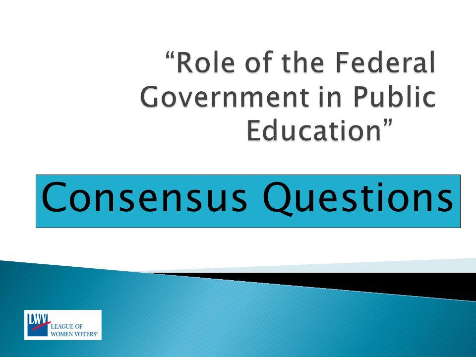 Consensus Questions
