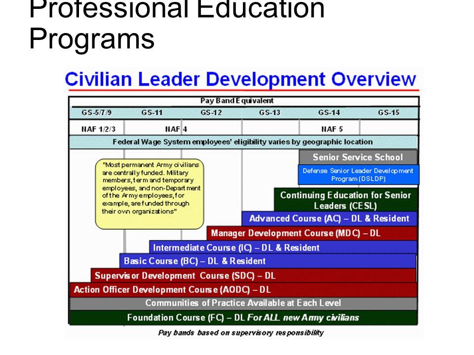 Professional Education Programs