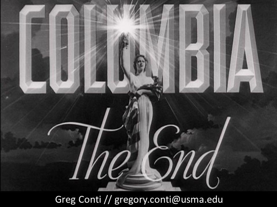 Greg Conti // gregory.conti@usma.edu