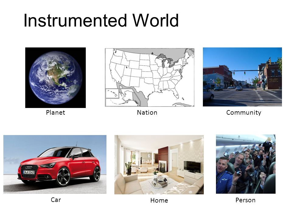 Instrumented World Community Planet Nation Person Home Car