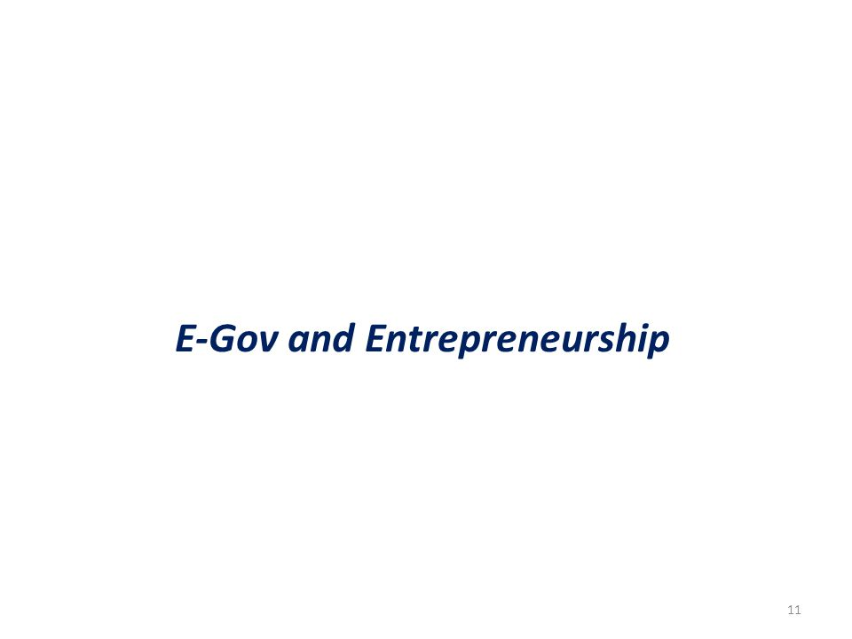 11 E-Gov and Entrepreneurship