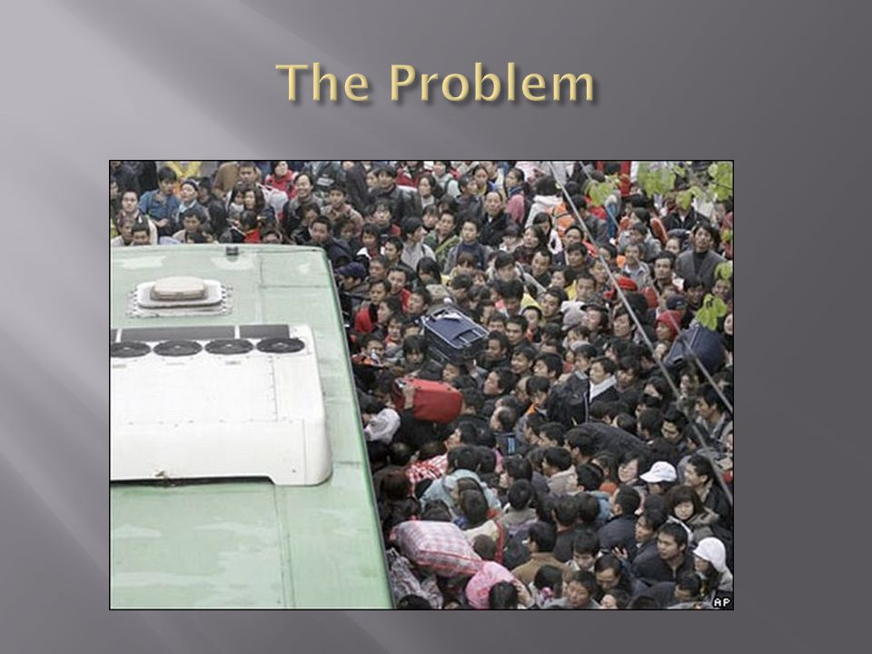  In Social Studies you have learned about the social problem of overpopulation in China.