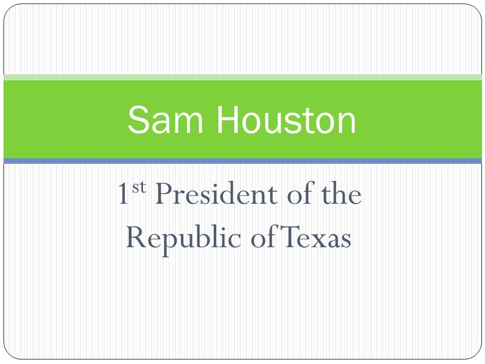 1 st Actions of Lamar Presidents of the new republic could not run consecutive terms.-write this on your content frame.