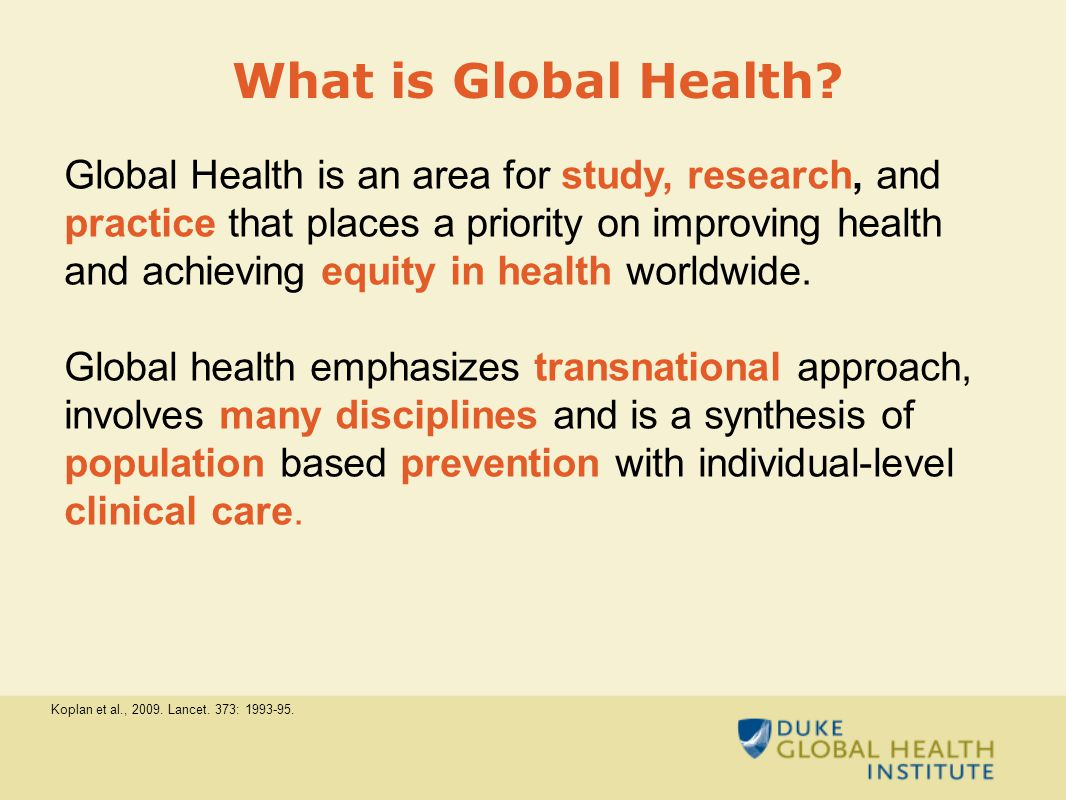 What is Global Health.