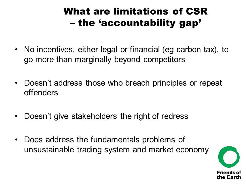 What's been happening on CSR.