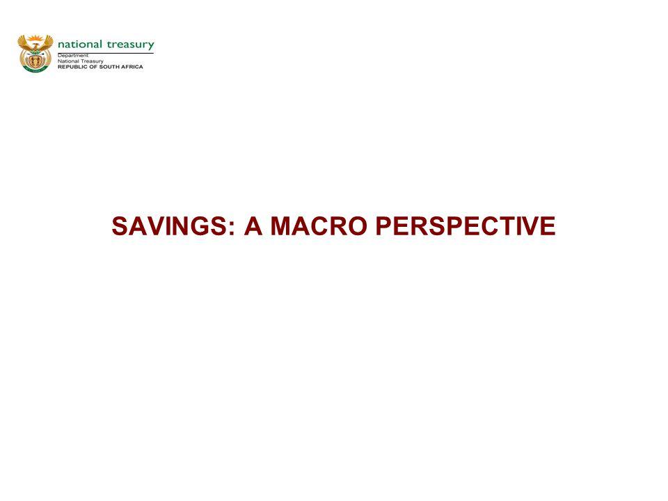 SAVINGS: A MACRO PERSPECTIVE