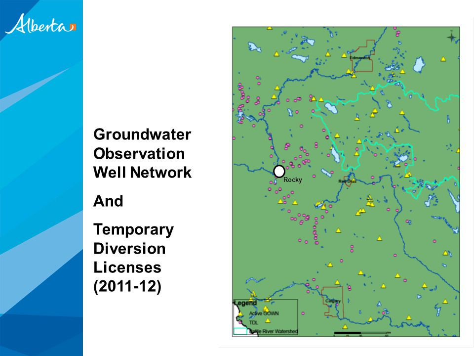 Groundwater Observation Well Network And Temporary Diversion Licenses (2011-12) Rocky