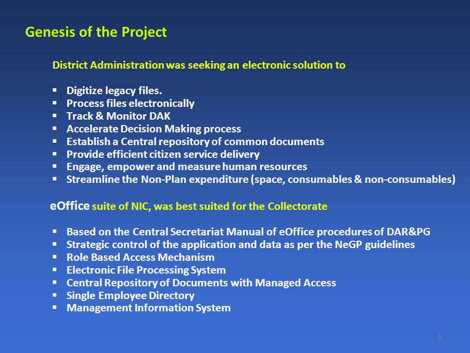 District Administration was seeking an electronic solution to  Digitize legacy files.