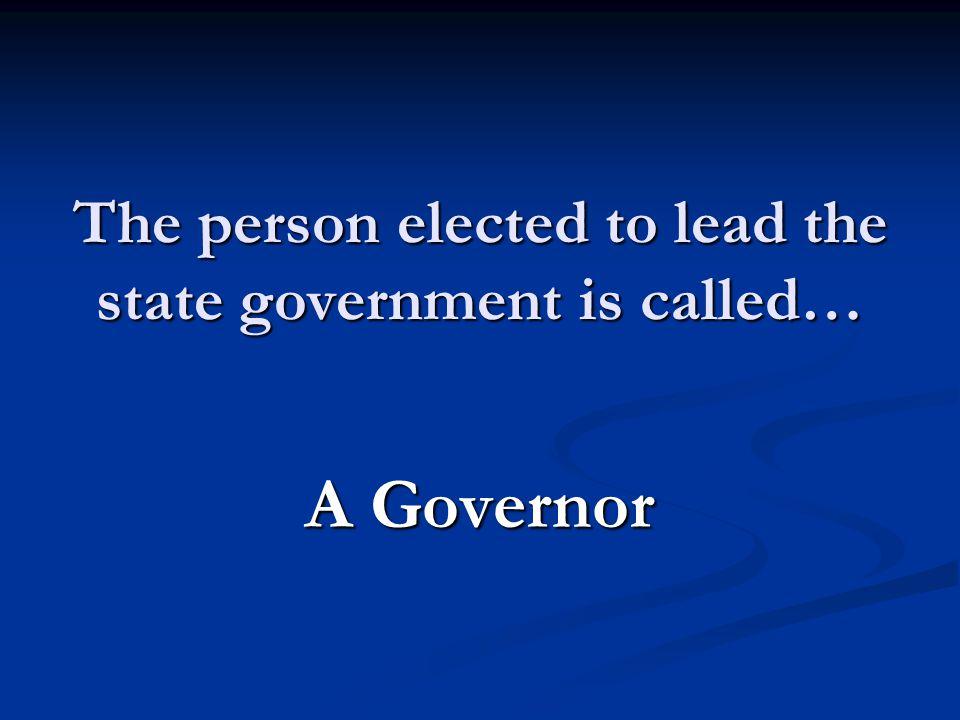 A Governor
