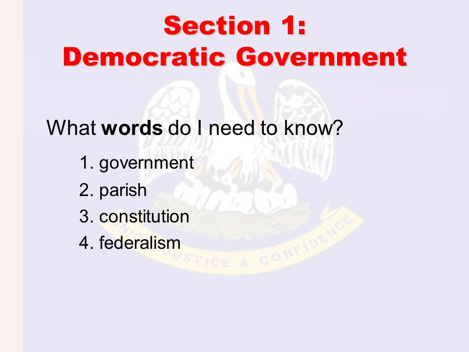Section 3: Local Governments - What words do I need to know.