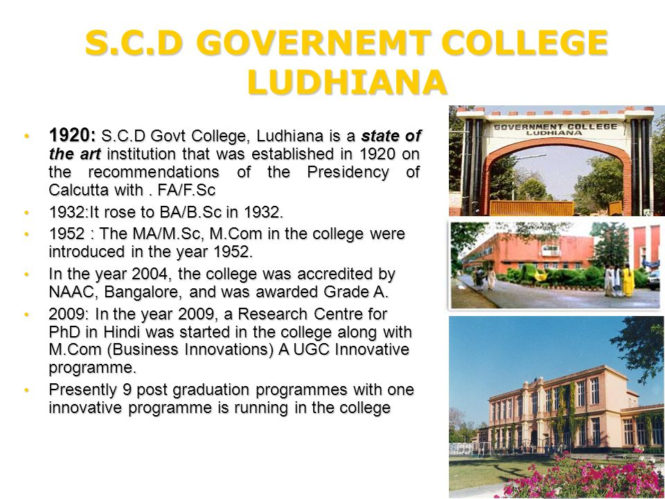 Skill Development Initiatives at S.C.D Government College Ludhiana Department of Business Innovations under UGC Innovative Programmes Scheme.