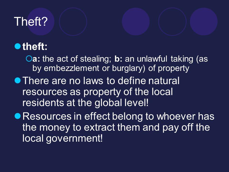 Theft.