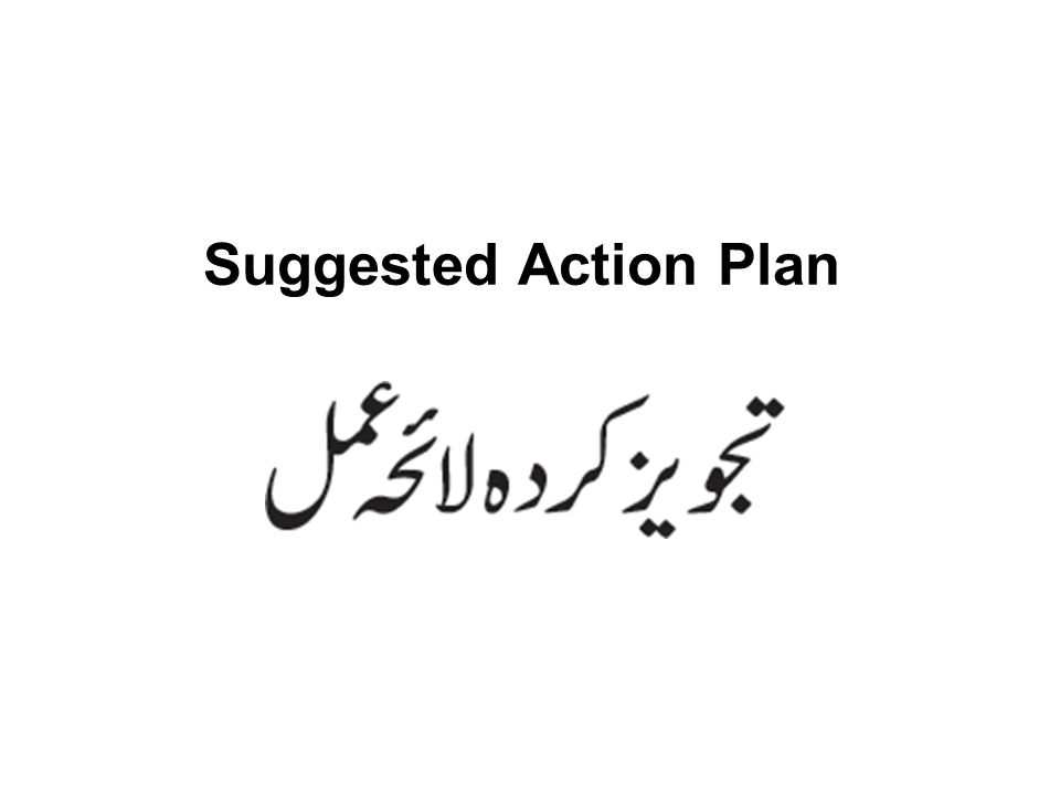Suggested Action Plan