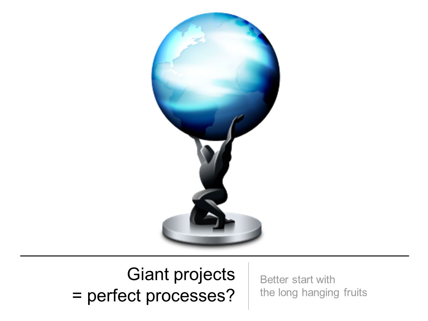 Giant projects = perfect processes? Better start with the long hanging fruits
