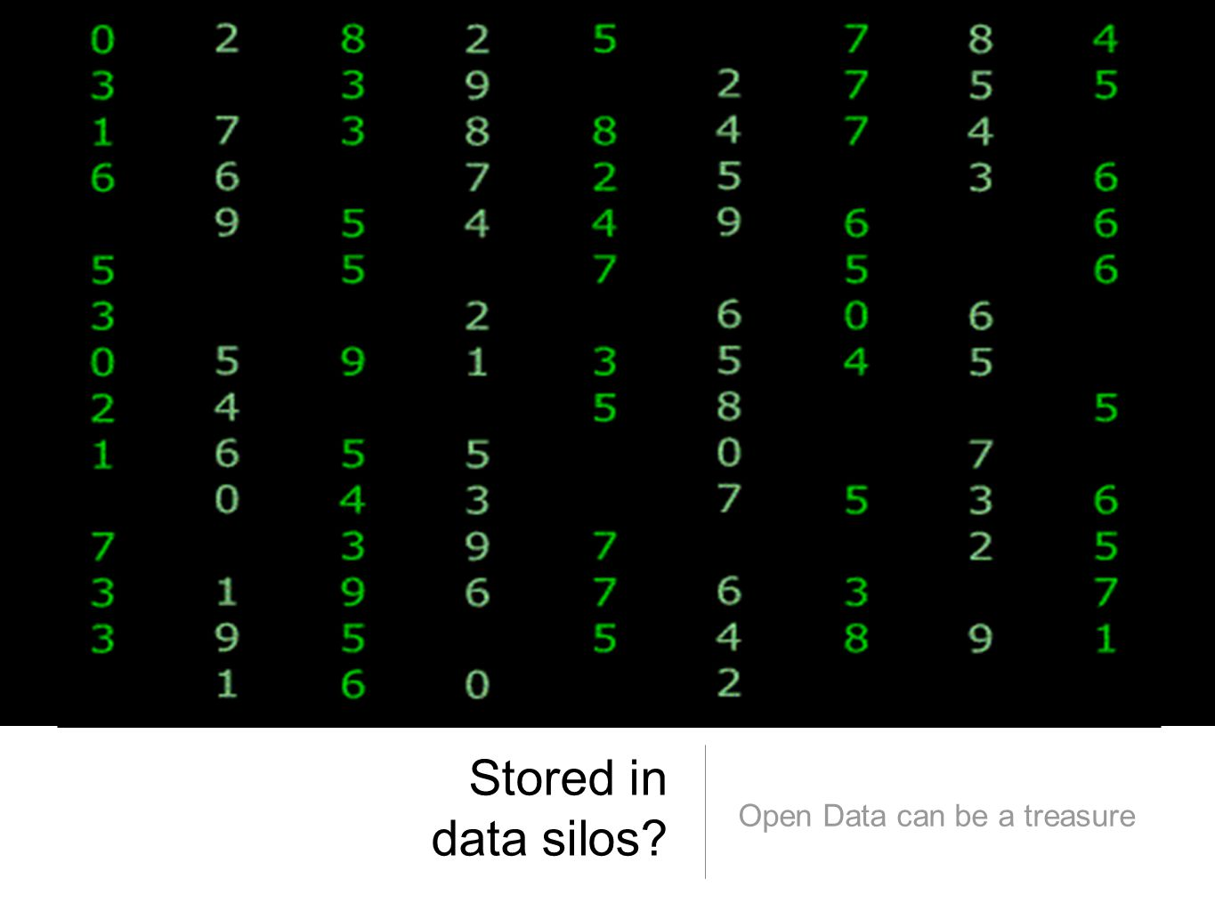 Stored in data silos? Open Data can be a treasure