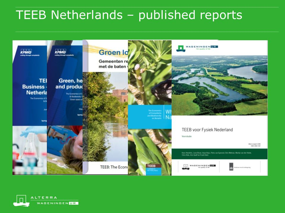 TEEB Netherlands – published reports