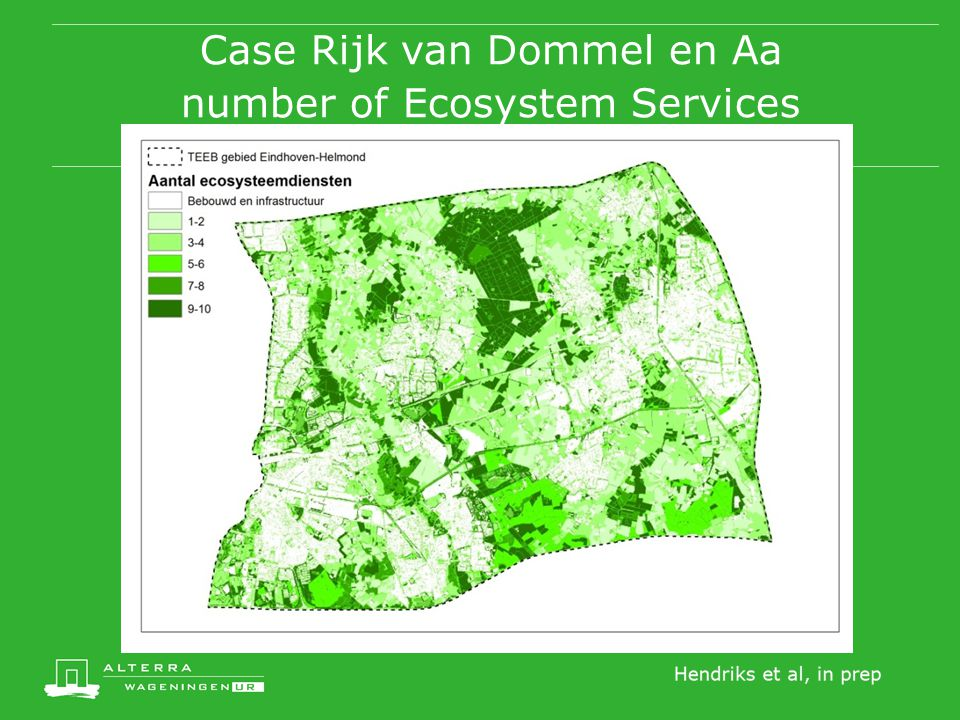 Case Rijk van Dommel en Aa number of Ecosystem Services
