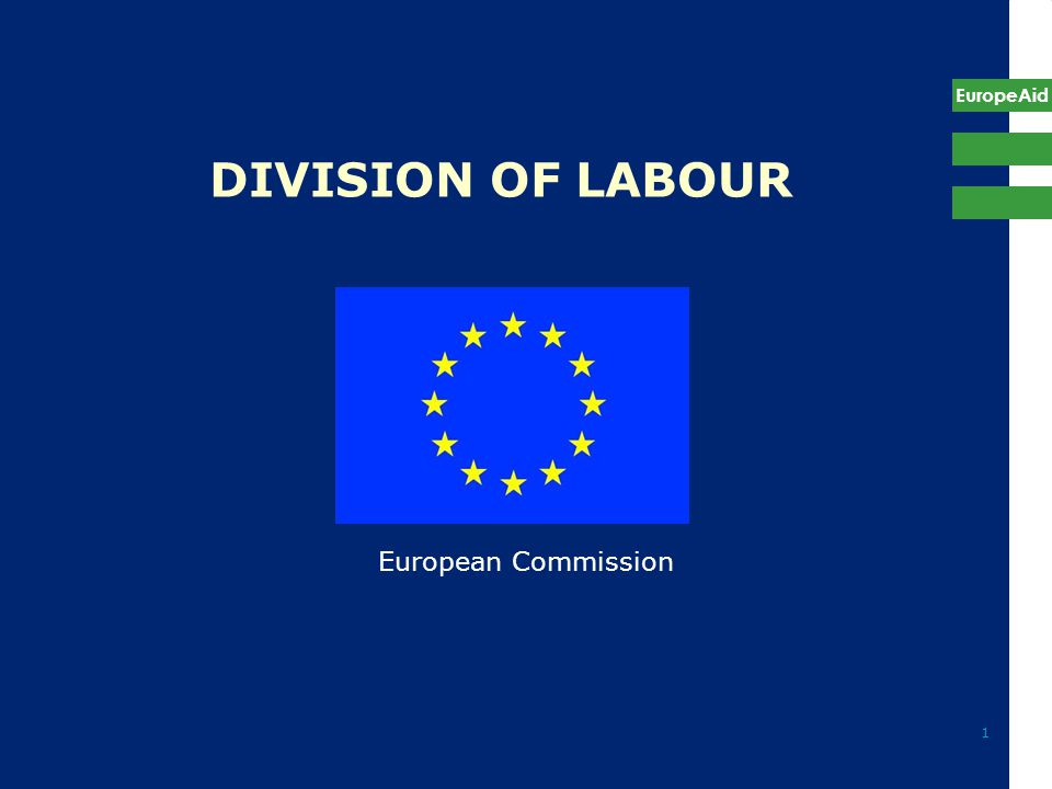 EuropeAid 1 DIVISION OF LABOUR European Commission