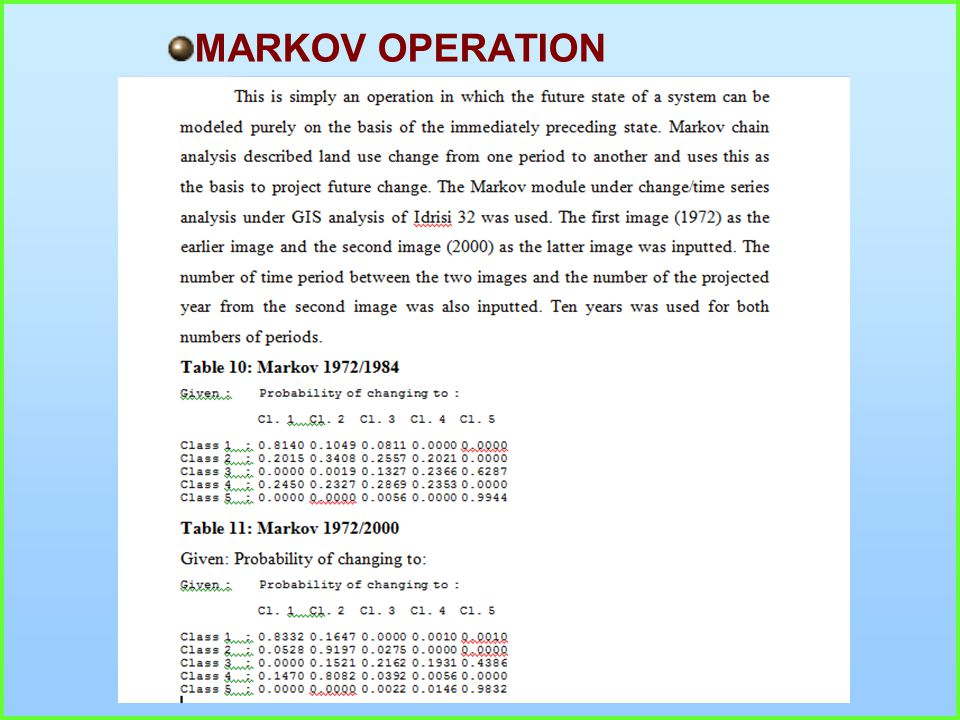 MARKOV OPERATION