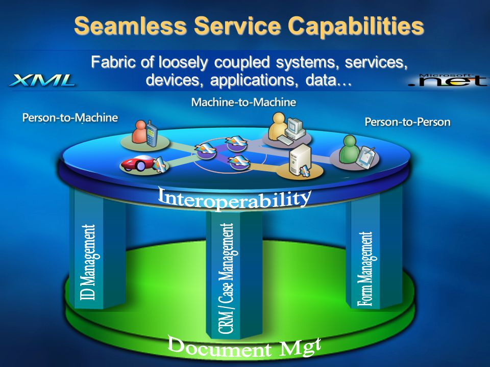 Seamless Service Capabilities Fabric of loosely coupled systems, services, devices, applications, data…