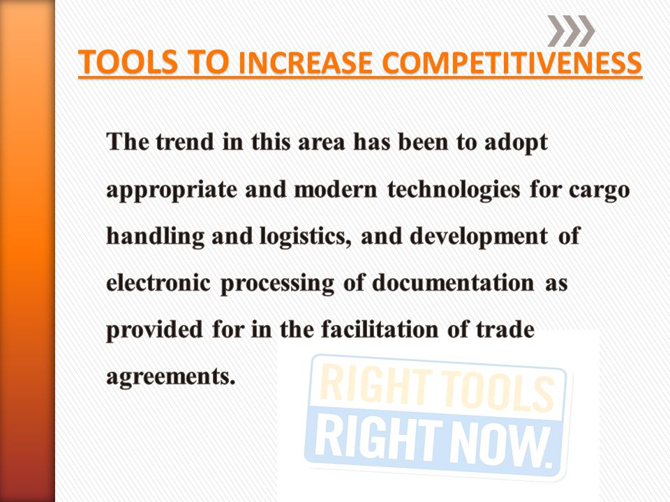 TOOLS TO INCREASE COMPETITIVENESS