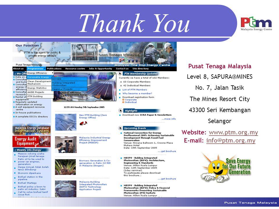 Thank You Pusat Tenaga Malaysia Level 8, SAPURA@MINES No.