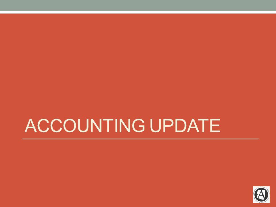 ACCOUNTING UPDATE