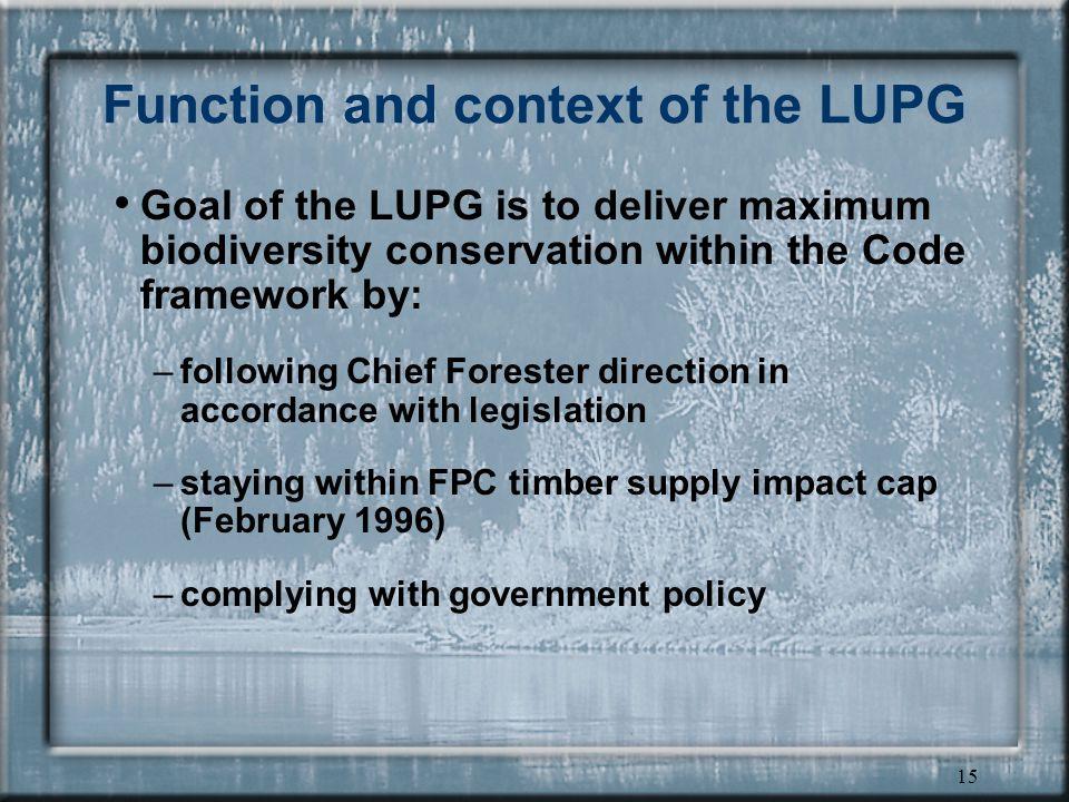 14 Higher level plans RMZ objective Landscape Unit objective Sensitive Area objective Recreation Sites & Trails objective