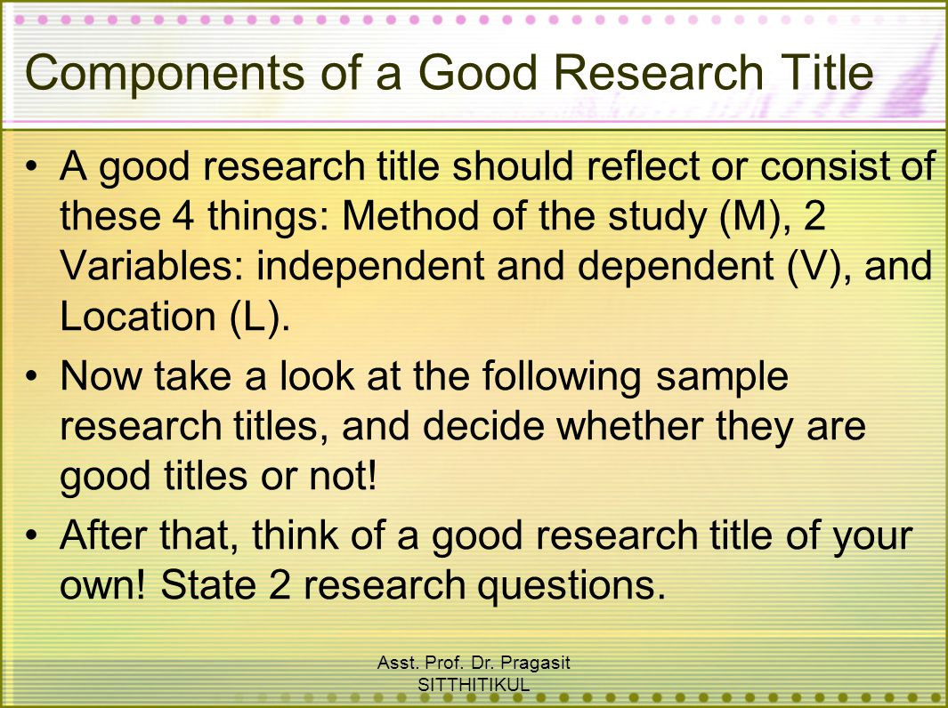 Good research papers:Components of a good - YouTube