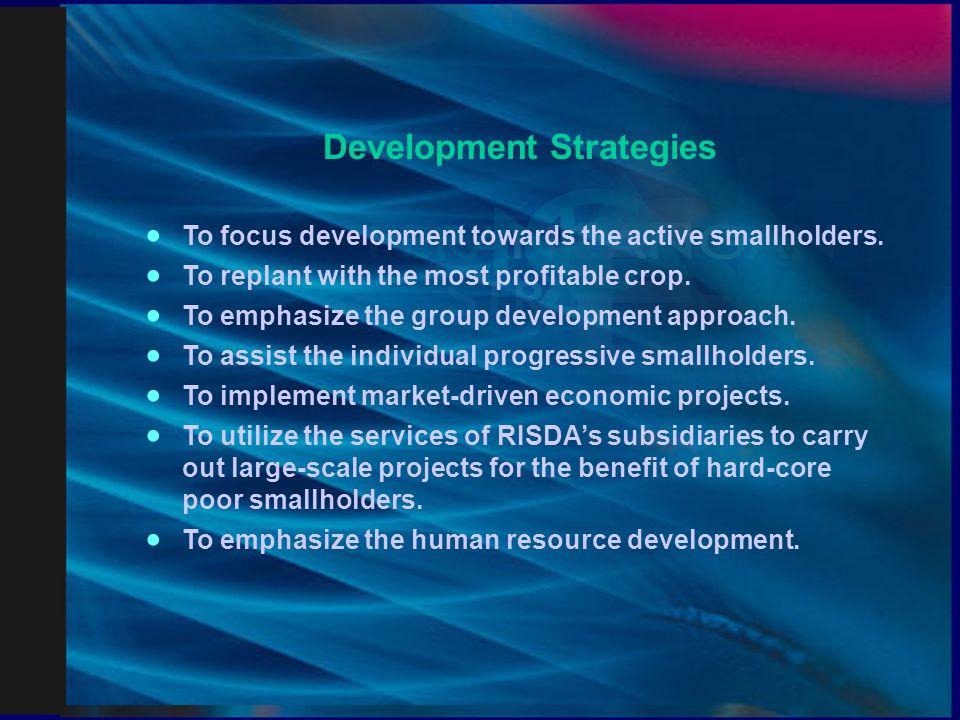 Strategic Business Development Model (5 FLAGSHIP) 1.Replanting and Estatization Programme.