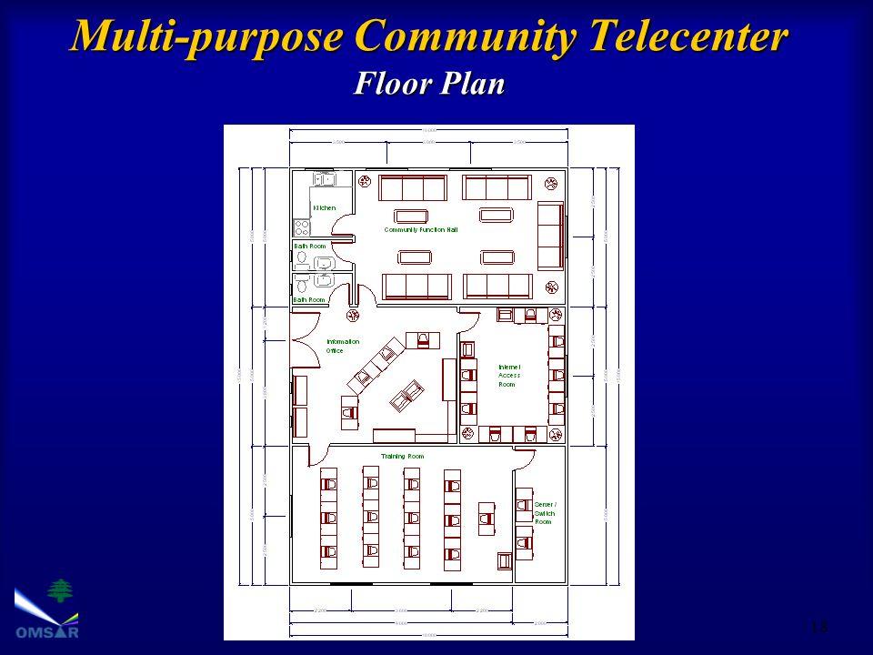 18 Multi-purpose Community Telecenter Floor Plan
