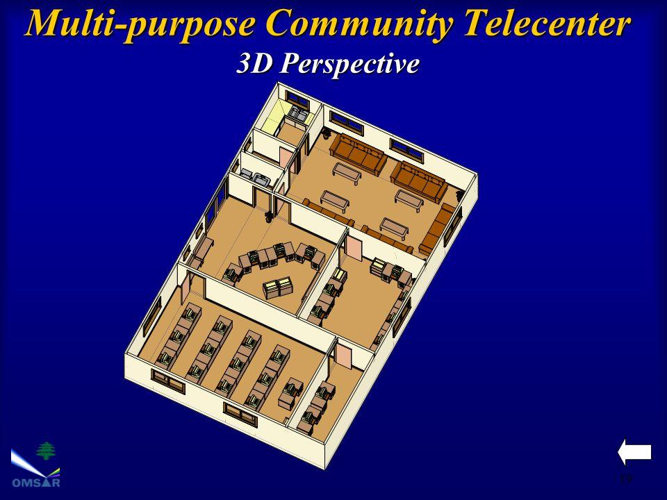 19 Multi-purpose Community Telecenter 3D Perspective