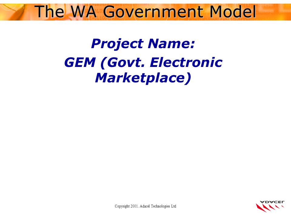 Copyright 2001. Adacel Technologies Ltd Project Name: GEM (Govt.