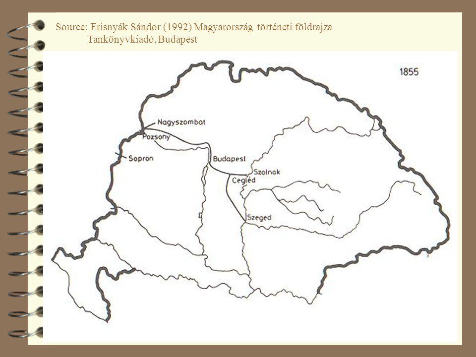 32 Source: Frisnyák Sándor (1992) Magyarország történeti földrajza Tankönyvkiadó, Budapest