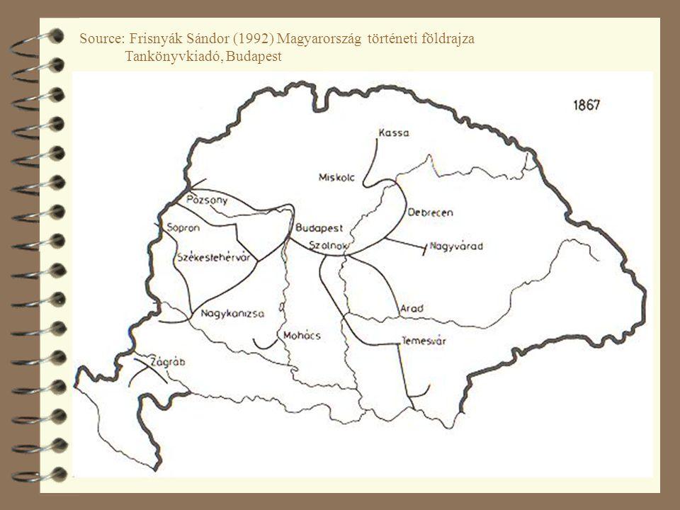 33 Source: Frisnyák Sándor (1992) Magyarország történeti földrajza Tankönyvkiadó, Budapest
