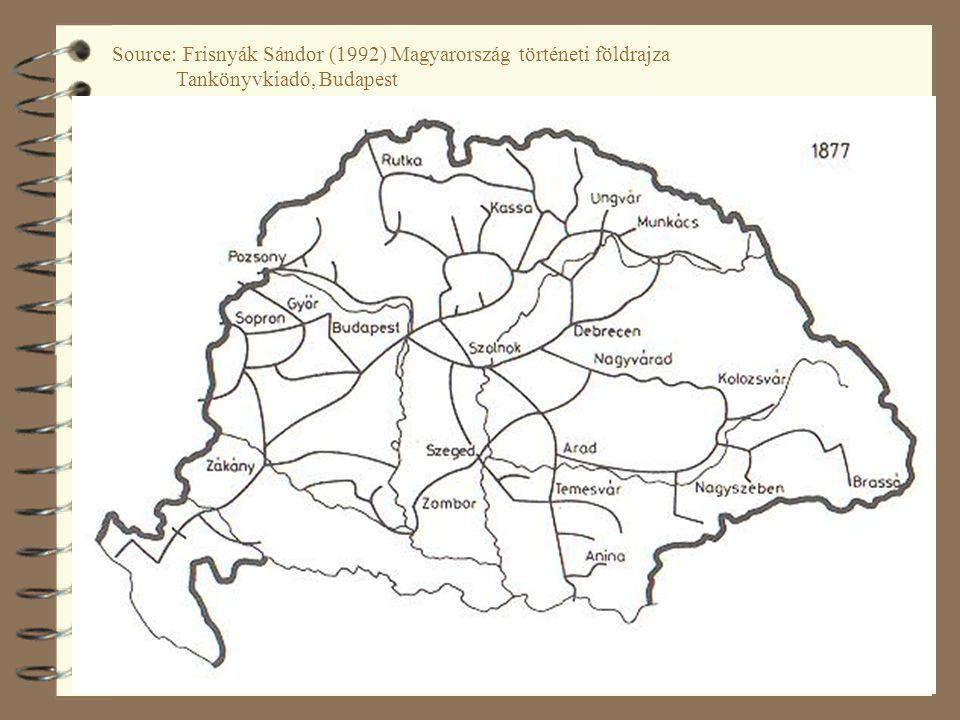 34 Source: Frisnyák Sándor (1992) Magyarország történeti földrajza Tankönyvkiadó, Budapest