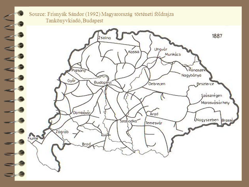 35 Source: Frisnyák Sándor (1992) Magyarország történeti földrajza Tankönyvkiadó, Budapest