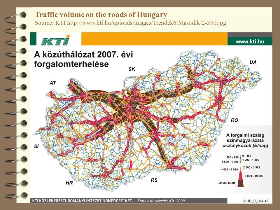 48 Traffic volume on the roads of Hungary Source: KTI http://www.kti.hu/uploads/images/Trendek6/Masodik/2-350.jpg