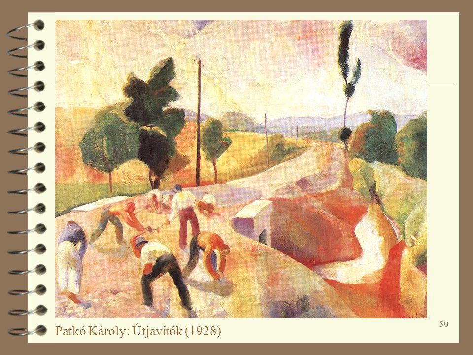 50 Patkó Károly: Útjavítók (1928)