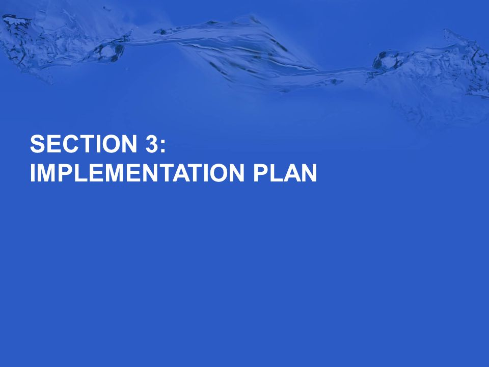 SECTION 3: IMPLEMENTATION PLAN
