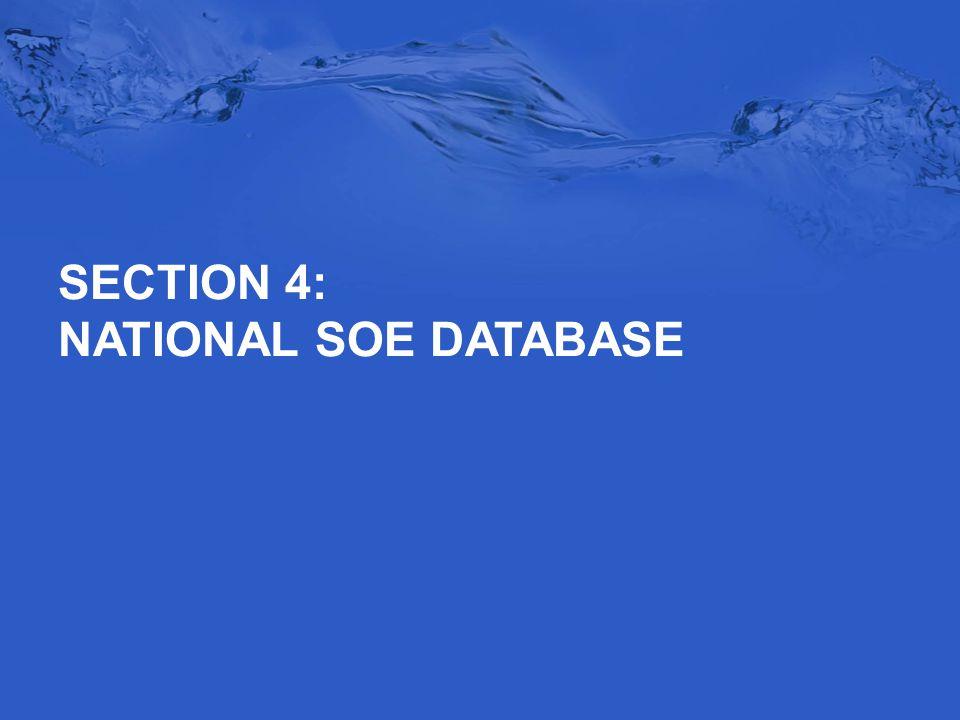 SECTION 4: NATIONAL SOE DATABASE