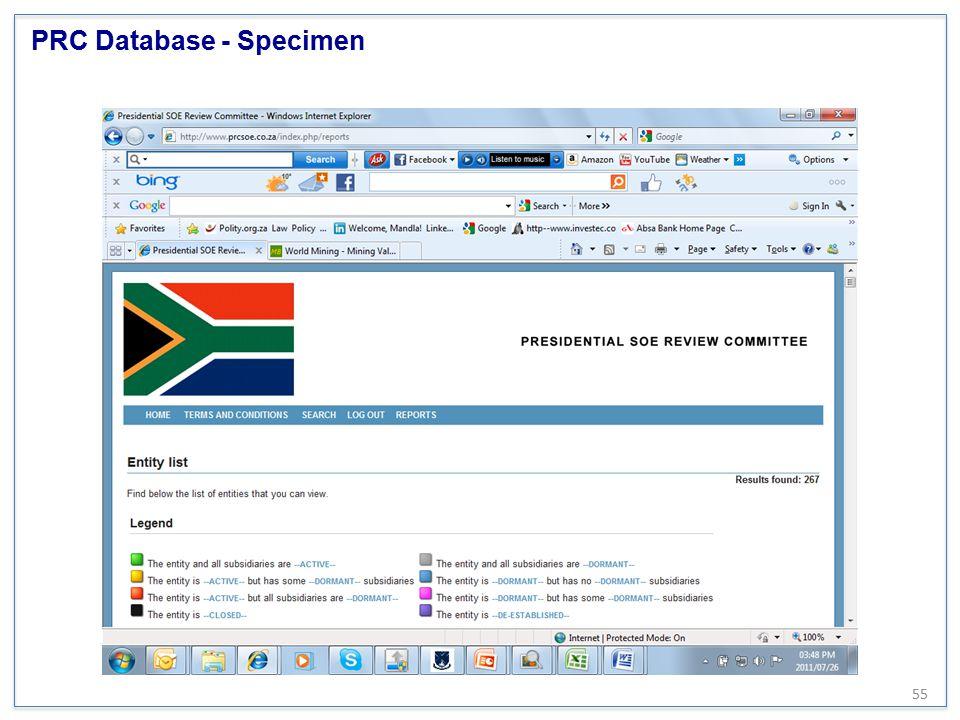 PRC Database - Specimen 55