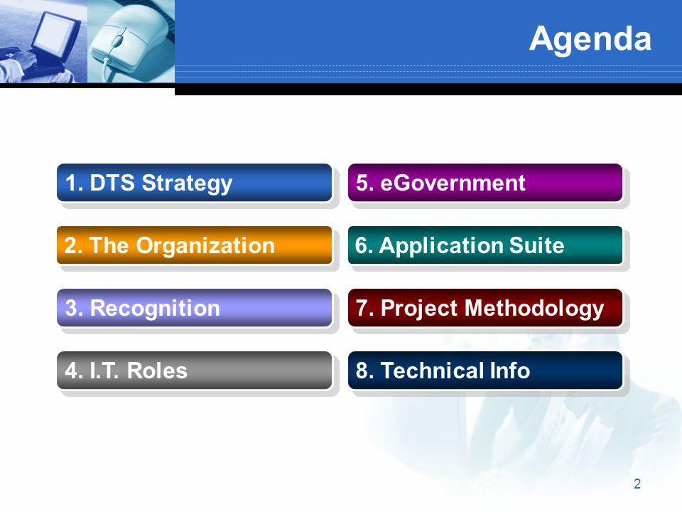 13 County IT Support  DTS is responsible for Infrastructure and Enterprise Systems  DTS interfaces with IT Teams across County departments  DTS Workgroups enable teamwork and inter-departmental collaboration