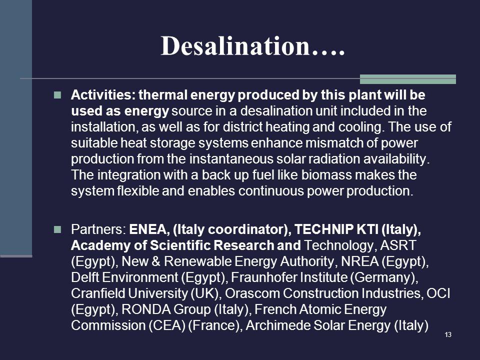 Desalination….